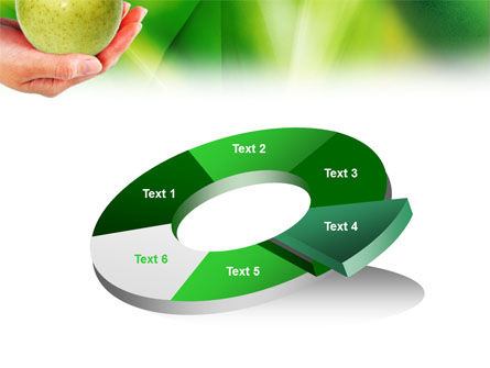 Green Apple In Hand PowerPoint Template Slide 19