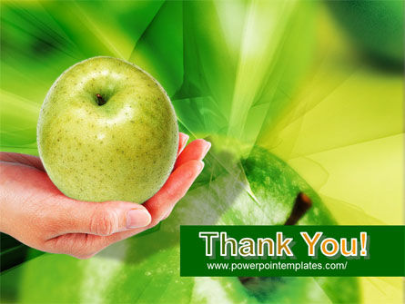 Green Apple In Hand PowerPoint Template Slide 20
