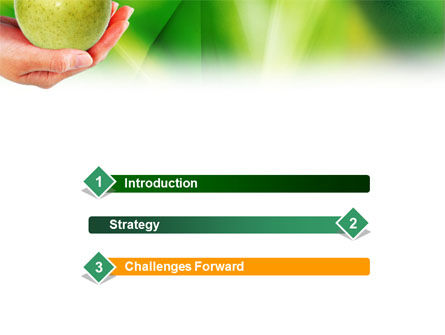 Green Apple In Hand PowerPoint Template Slide 3