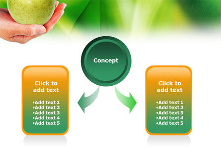 Green Apple In Hand PowerPoint Template Slide 4