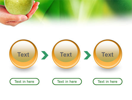 Green Apple In Hand PowerPoint Template Slide 5