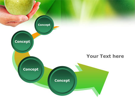 Green Apple In Hand PowerPoint Template Slide 6