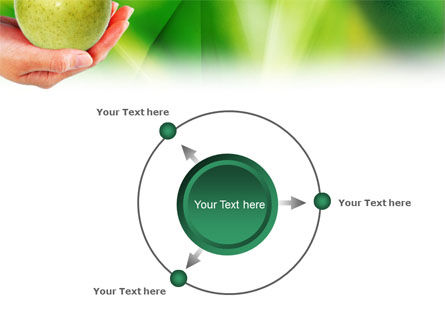 Green Apple In Hand PowerPoint Template Slide 7