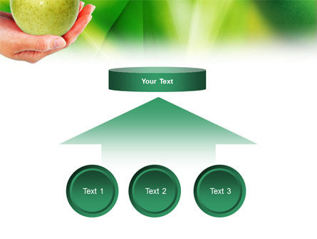 Green Apple In Hand PowerPoint Template Slide 8