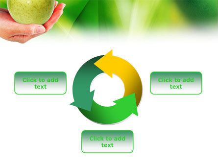 Green Apple In Hand PowerPoint Template Slide 9