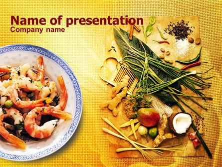 Exotic Ingredients PowerPoint Template, 01242, Food & Beverage — PoweredTemplate.com