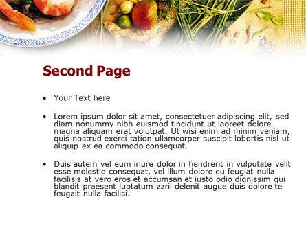 Exotic Ingredients PowerPoint Template, Slide 2, 01242, Food & Beverage — PoweredTemplate.com