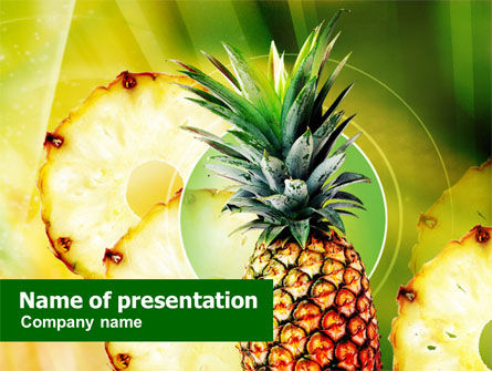 Food & Beverage: Pineapple PowerPoint Template #01243