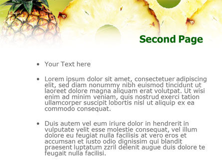 Pineapple PowerPoint Template Slide 2