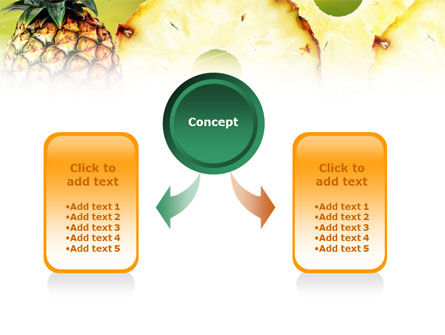 Pineapple PowerPoint Template, Slide 4, 01243, Food & Beverage — PoweredTemplate.com