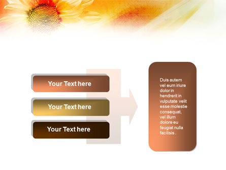 Orange Daisy Theme PowerPoint Template Slide 11