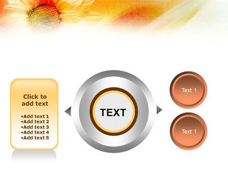 Orange Daisy Theme PowerPoint Template Slide 12