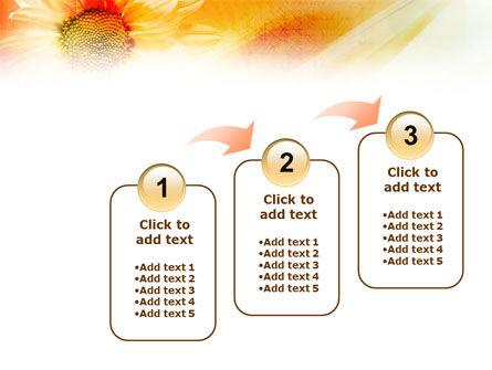 Orange Daisy Theme PowerPoint Template Slide 14