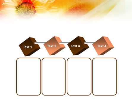 Orange Daisy Theme PowerPoint Template Slide 18