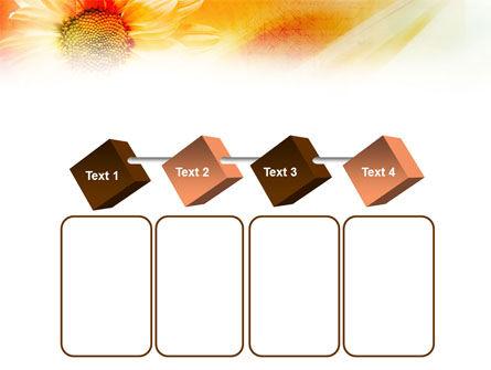 Orange Daisy Theme PowerPoint Template Slide 18