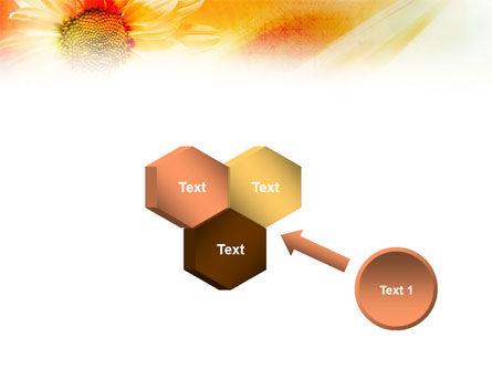 Orange Daisy Theme PowerPoint Template Slide 19