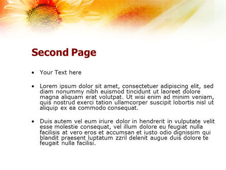 Orange Daisy Theme PowerPoint Template, Slide 2, 01245, Nature & Environment — PoweredTemplate.com