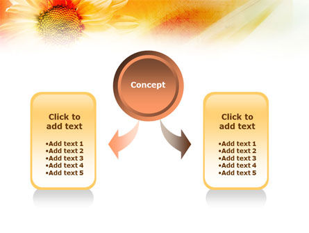 Orange Daisy Theme PowerPoint Template, Slide 4, 01245, Nature & Environment — PoweredTemplate.com