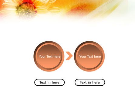 Orange Daisy Theme PowerPoint Template Slide 5
