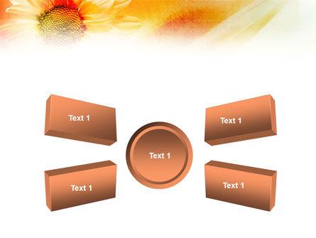 Orange Daisy Theme PowerPoint Template Slide 6