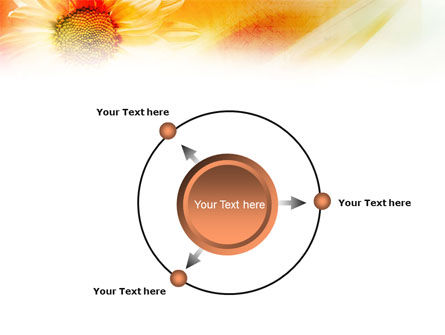 Orange Daisy Theme PowerPoint Template Slide 7