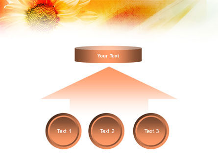 Orange Daisy Theme PowerPoint Template Slide 8