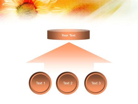 Orange Daisy Theme PowerPoint Template Slide 8
