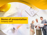 Construction: Modèle PowerPoint de projet de discussion sur le projet #01246