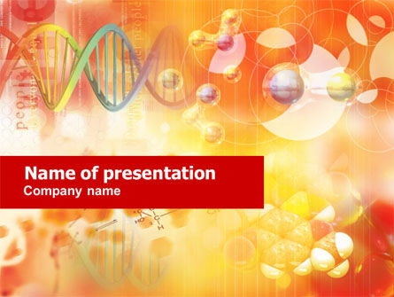 Technology and Science: Molecular Science PowerPoint Template #01247
