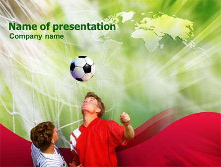Sports: Heading the Ball PowerPoint Template #01248