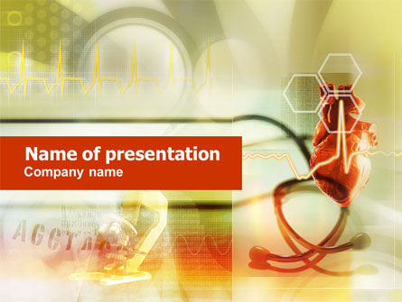 Heart Transplantation PowerPoint Template, 01249, Medical — PoweredTemplate.com