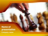 Business Concepts: Modello PowerPoint - Regina di scacchi #01250