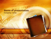 Business: Business Papers And Press PowerPoint Template #01251