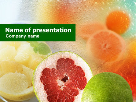 Food & Beverage: Templat PowerPoint Buah Sitrus #01253