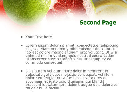 Citrus Fruits PowerPoint Template Slide 2
