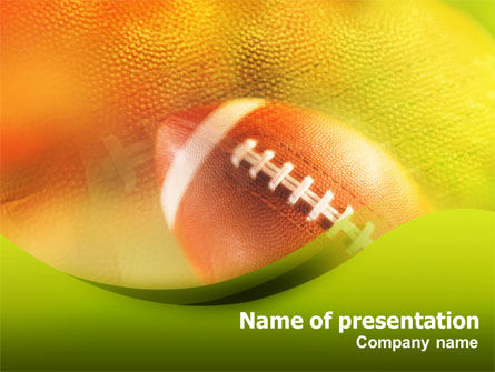 Ball Lacing PowerPoint Template, 01254, Sports — PoweredTemplate.com