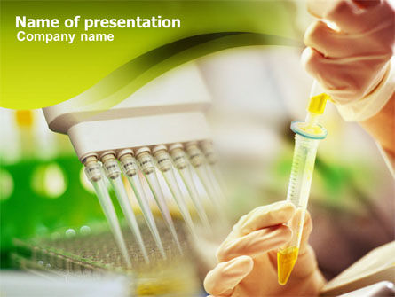 Lab Testing PowerPoint Template, 01255, Technology and Science — PoweredTemplate.com