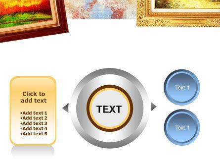 Framed Paintings PowerPoint Template Slide 12
