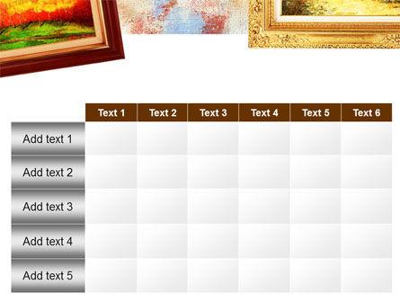 Framed Paintings PowerPoint Template Slide 15