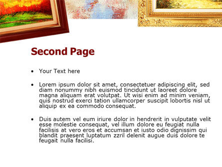 Framed Paintings PowerPoint Template, Slide 2, 01257, Art & Entertainment — PoweredTemplate.com
