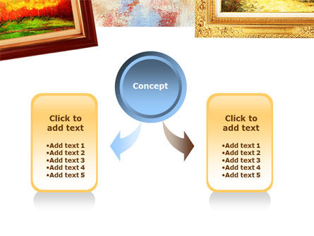 Framed Paintings PowerPoint Template Slide 4