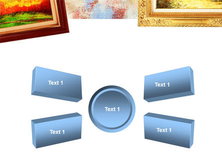 Framed Paintings PowerPoint Template Slide 6