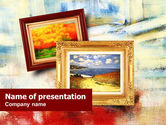 Art & Entertainment: Framed Paintings PowerPoint Template #01257