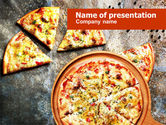 Food & Beverage: Hot Pizza PowerPoint Template #01258
