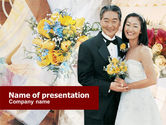 Holiday/Special Occasion: Asian Wedding PowerPoint Template #01259