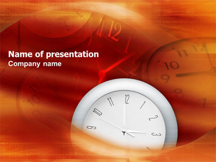 Business: Matter of Time PowerPoint Template #01261