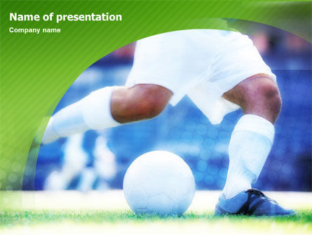 Sports: Football Foot PowerPoint Template #01262