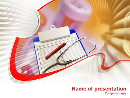 Medical Card PowerPoint Template, 01263, Medical — PoweredTemplate.com