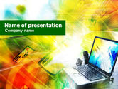 Technology and Science: Mobile Laptop PowerPoint Template #01265