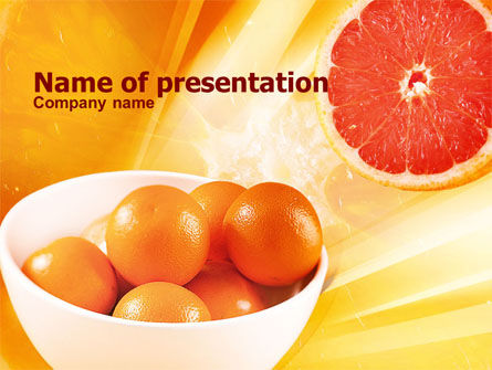 Grapefruit PowerPoint Template, 01266, Food & Beverage — PoweredTemplate.com